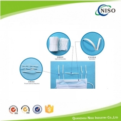Nose strip for surgical face mask